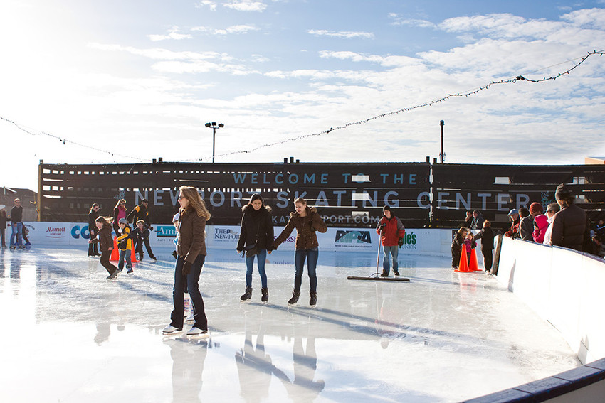 Lace up and hit the ice at the Newport Skating Center