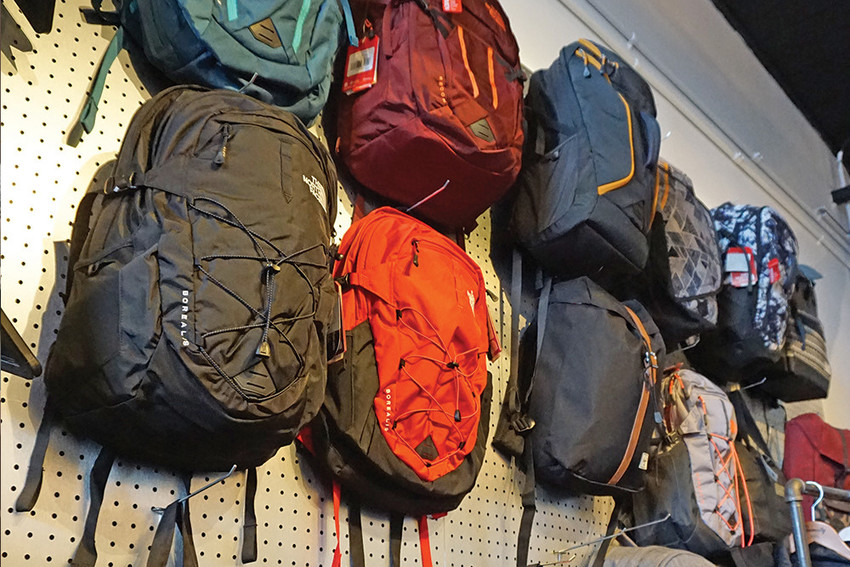 Backpacks, $40–$200
