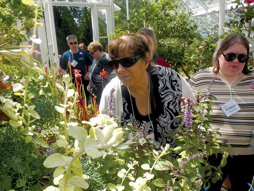 INSIGHT will lead visually-impaired guests through Blithewold's gardens on a tour that engages their other senses