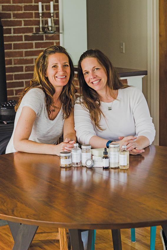 Herbalicious founder Carolyn Balint (right) now shares operations with friend and manager Robin Plaziak