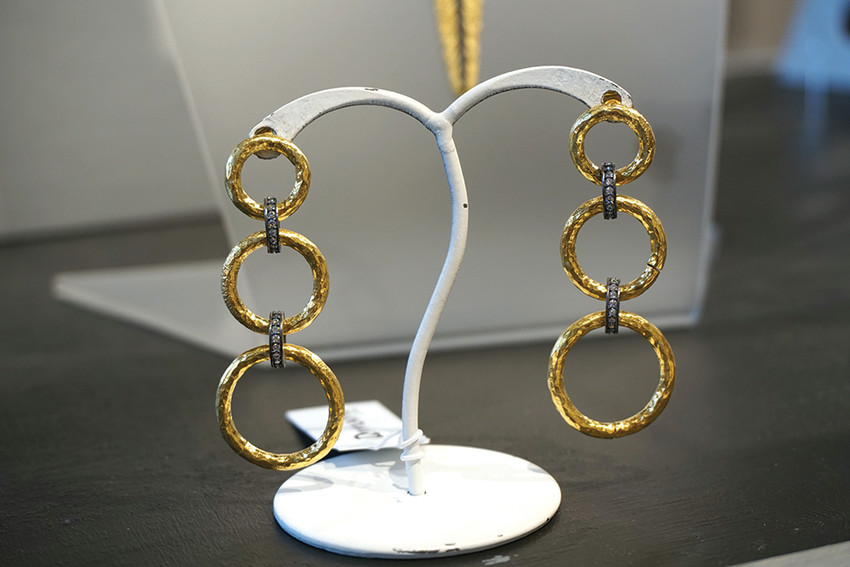 Earrings, $135