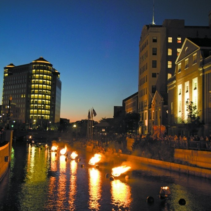 WaterFire illuminates Downtown Providence, along with live music and street performances, July 14