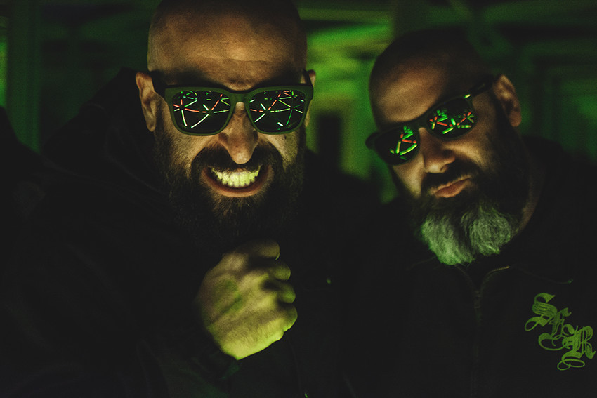 "B. Dolan (left) describes Epic Beard Men, his team-up with Sage Francis, as ""Beyonce and Jay Z's 'The Carters' but way hairier"""