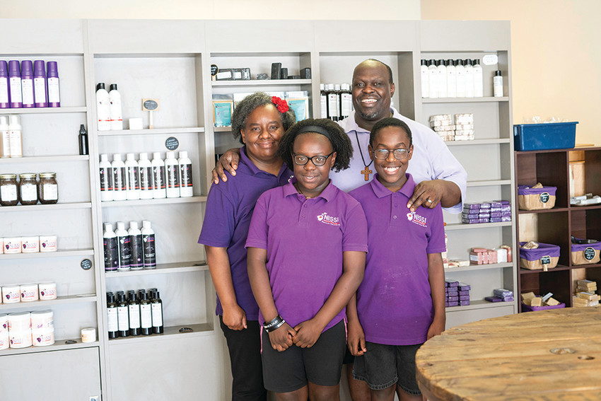 Andrew and Anna Mangeni started Nissi Naturals to address the allergies of their children, Samuel and Elizabeth