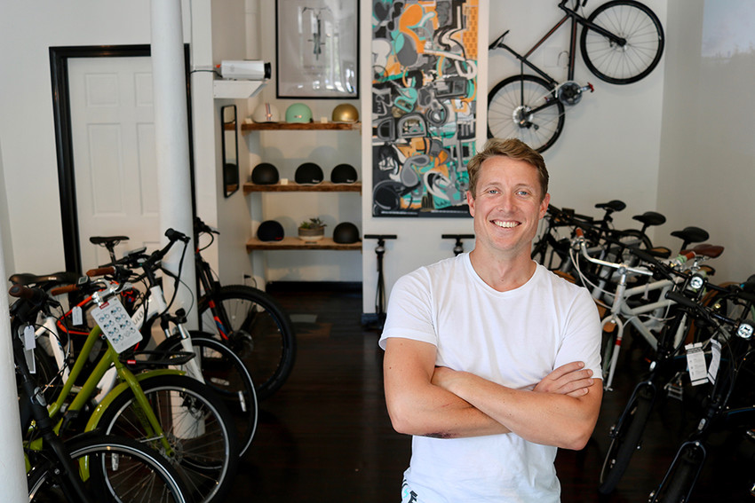 Mission Electric Bike shop owner Tyler Justin believes Providence is ready for the ebike revolution