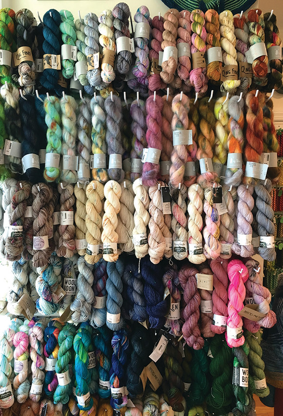 Hand-dyed sock yarn from Hedgehog, Qing, MadelineTosh, Artemis, Woolen Boon, Less Travelled Yarn, Olann, $23.95 and up