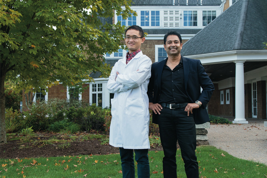 URI Research Associate Hang Ma, Ph.D., and Professor Navindra P. Seeram, Ph.D., are taking a closer look at maple bark