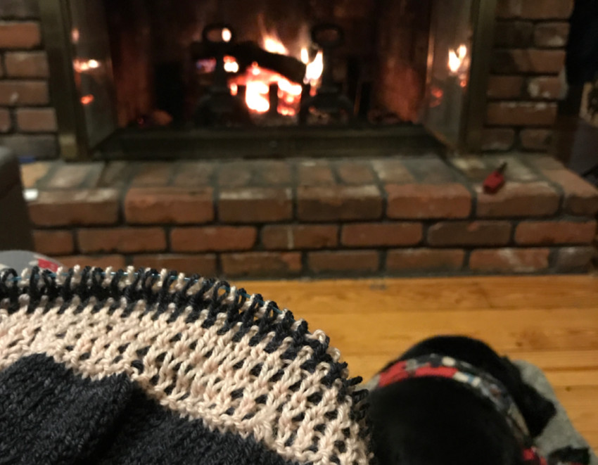 A cozy scene at the home of knitter Pam Sluter