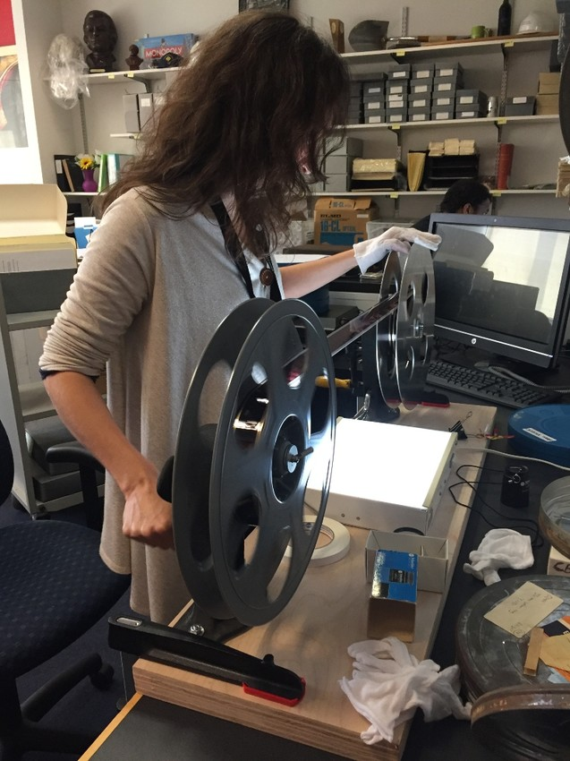 Behind-the-scenes with Becca Bender, RIHS's newest film archivist.