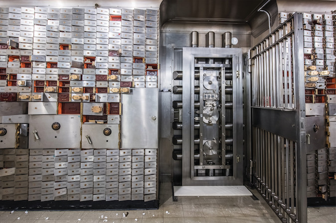 A peek inside the vault of the Superman Building