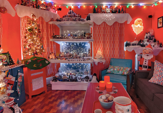 Get a peek inside the merry and bright home of the founders of The Craft and Kitsch Winter Market, in East Providence
