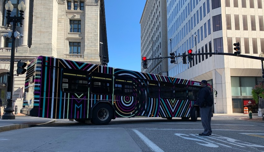 "The ""Move"" art bus makes its way around downtown Providence"