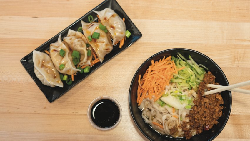 Pork Dumplings and Pork Cold Noodles