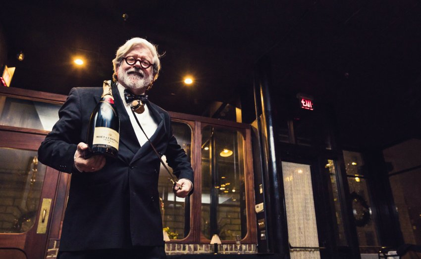 Champagne sabering takes pouring the bubbly to a whole new level