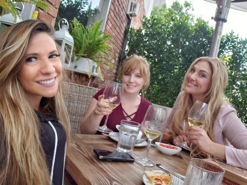 Emily and Andrea have lunch with RHOC's Gina Kirschenheiter