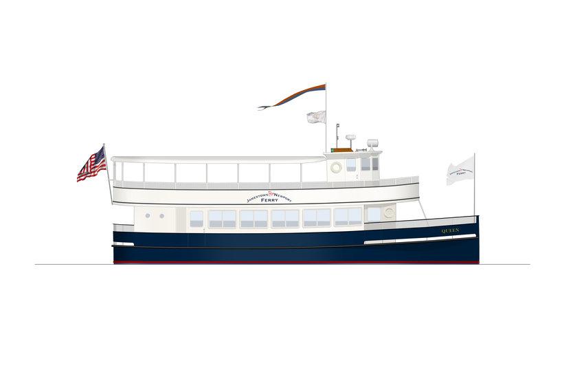 Artist rendering of the restored Coastal Queen