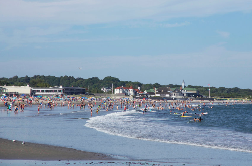 Up to 10,000 people access   Narragansett Town Beach each day