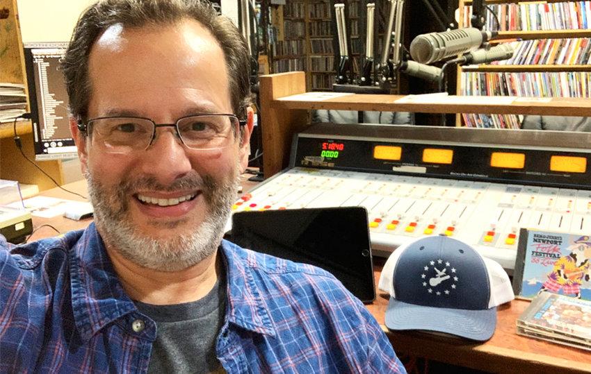 Ken Abrams in the WRIU studio