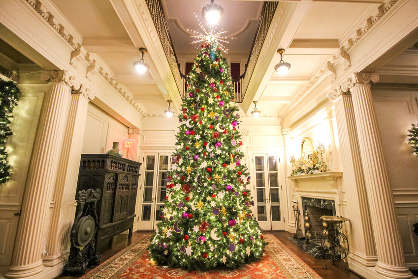 """It was a Van Wickle family tradition to have a tree 'two stories tall'   gracing the main entrance,"" says Blithewold's Tree Callanan"