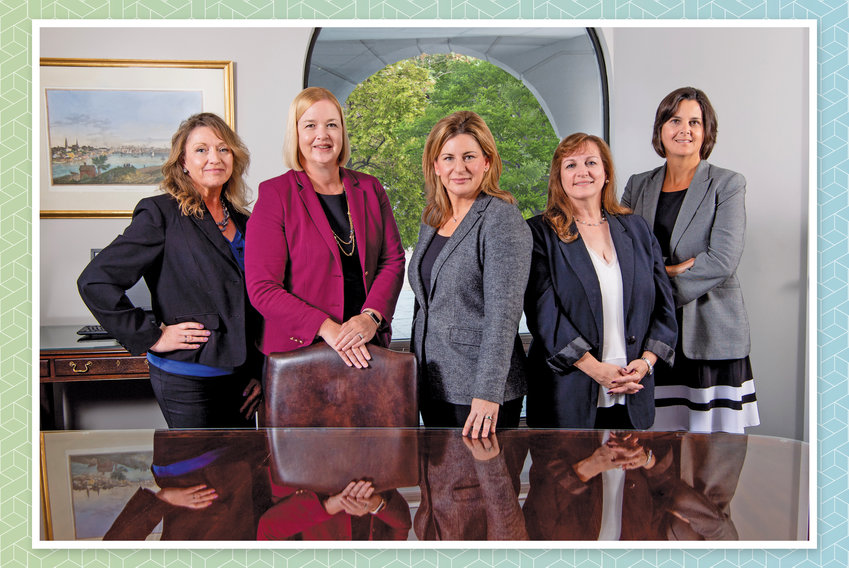 The MSW team with Kristen Prull Moonan (second from left) & Amy Stratton (center)