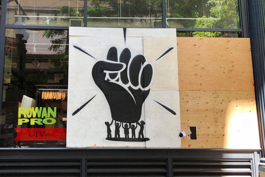 Mural on Civil Storefront