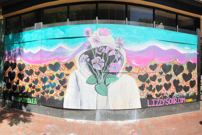 Mural on Mokban Korean Bistro
