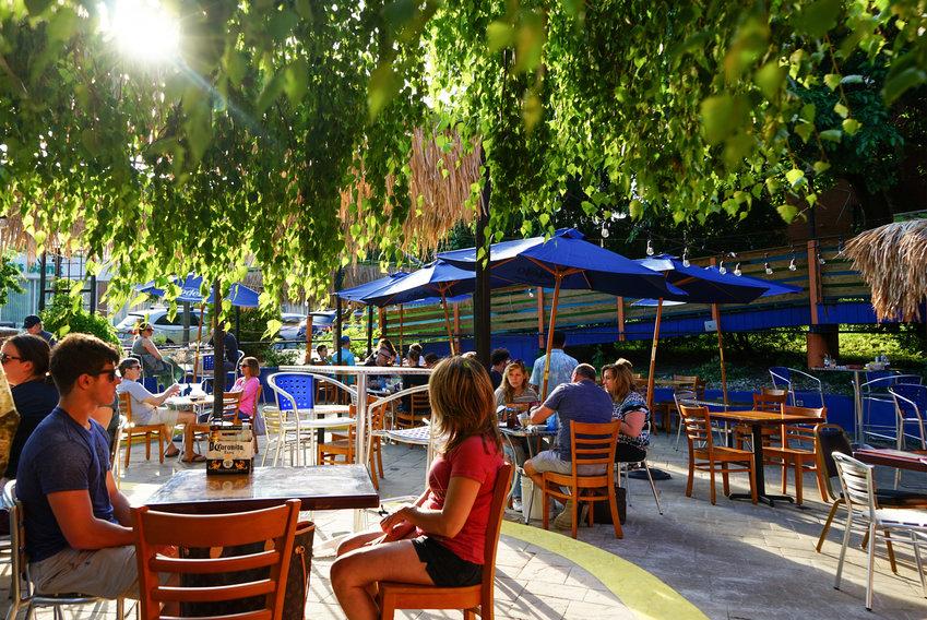 La Piñata sports a fun, colorful patio