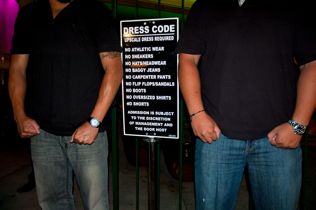 Some night spots enforce dress codes to try to attract a more upscale clientele