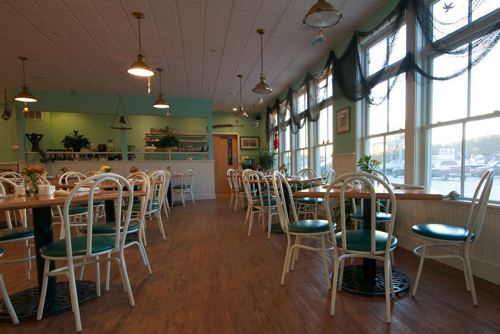 The dining room at Mermaid Cafe