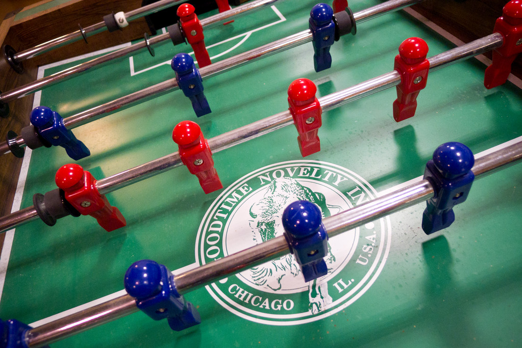 Of course, Nail's office boasts the requisite foosball table