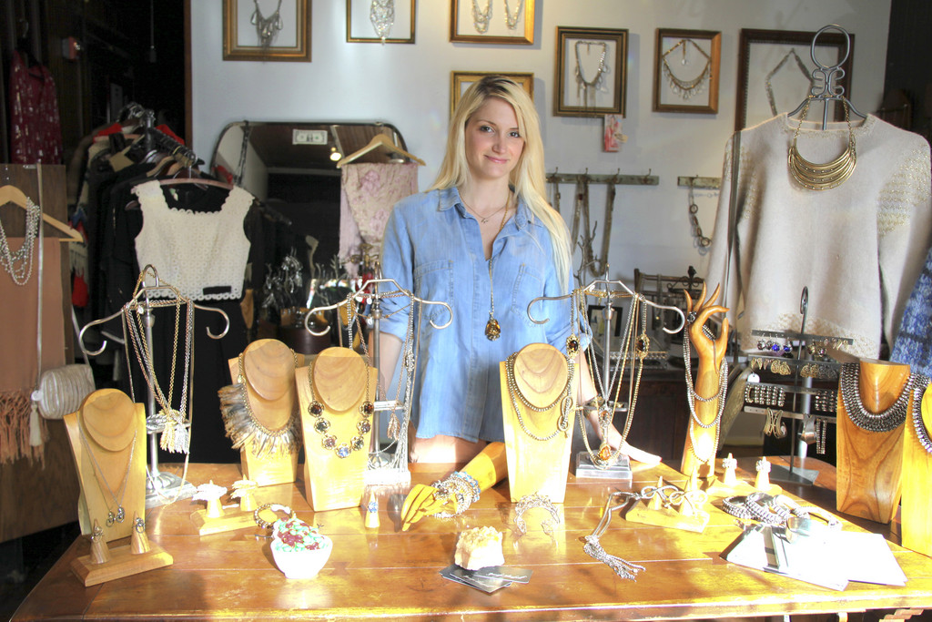 Jennifer Amenta in her Warren jewelry shop, Jennifer Elizabeth