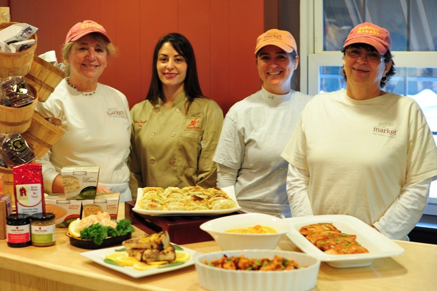 Chef Melina, Pattie Gaudreau and the Blount Market staff