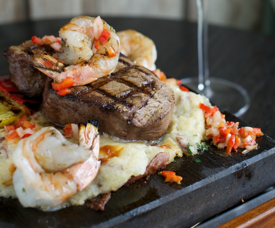 Surf and Turf at Besos Tea House