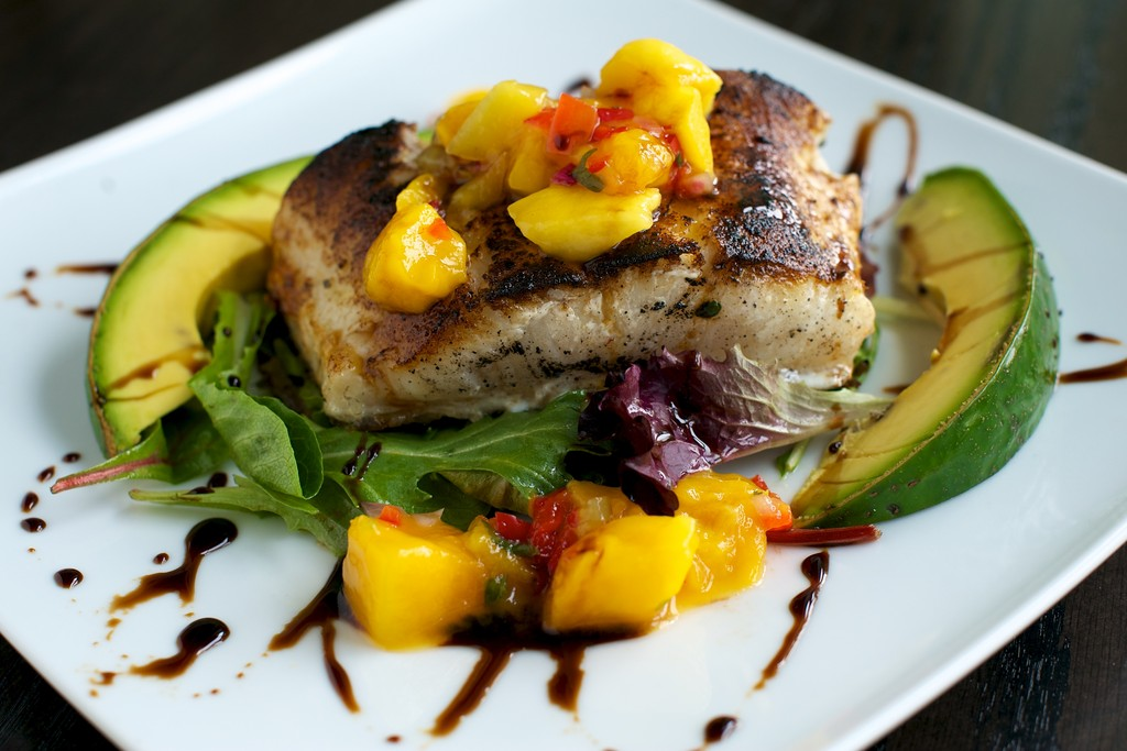 Chilean Sea Bass with Mango Chutney at Besos Tea House