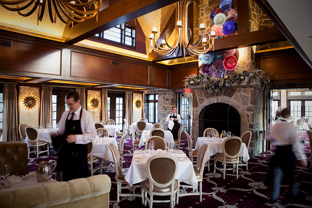 The dining room at Chapel Grille