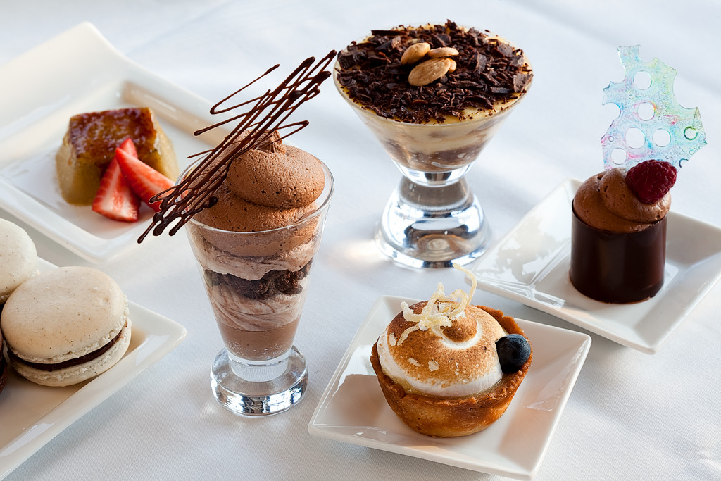 The dessert tray at Chapel Grille