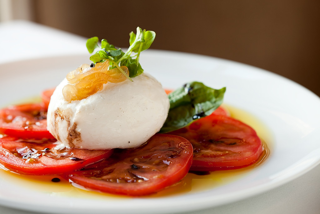 Caprese salad at Chapel Grille