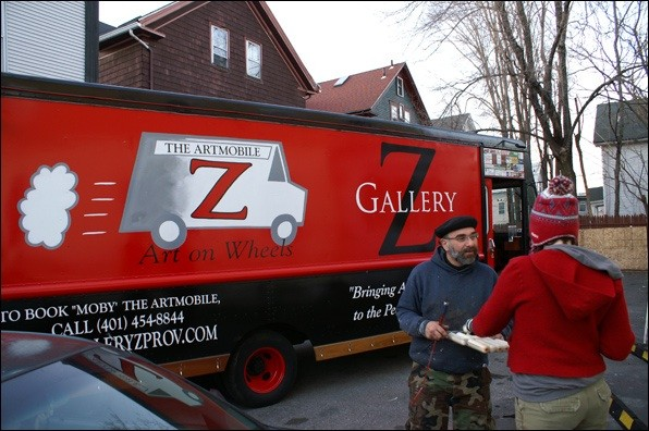 Gallery Z's new ArtMobile, Moby, hits the road Thursday, February 16