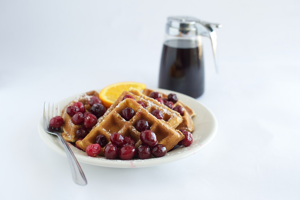 Fresh made waffles at the Bluebird Cafe in Wakefield