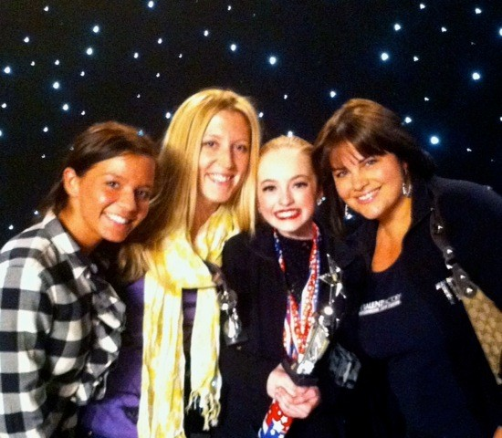 Left to Right are staff members Keryn Tommasiello, Tara Tommasiello, company member Tatum Wentworth and owner Dana D'Iorio Adames