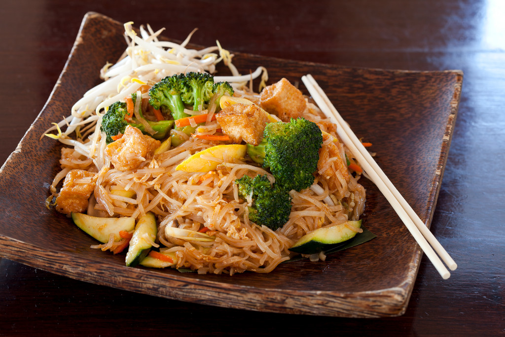 Tofu and Vegetable Pad Thai at Tong-D in Barrington