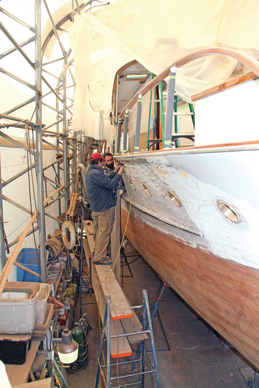 Boat building at McMillen Yachts in Portsmouth