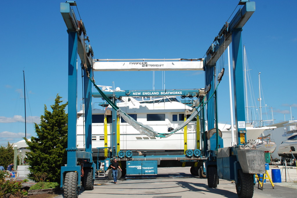 Heavy duty equipment is an every day necessity for companies like Portsmouth's New England Boatworks