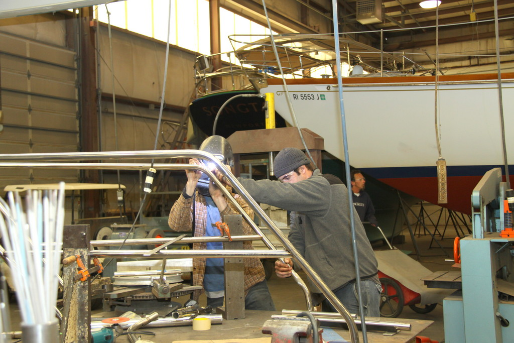 Hinckley produces new boats at a facility in Maine, but it does major restorations in Rhode Island