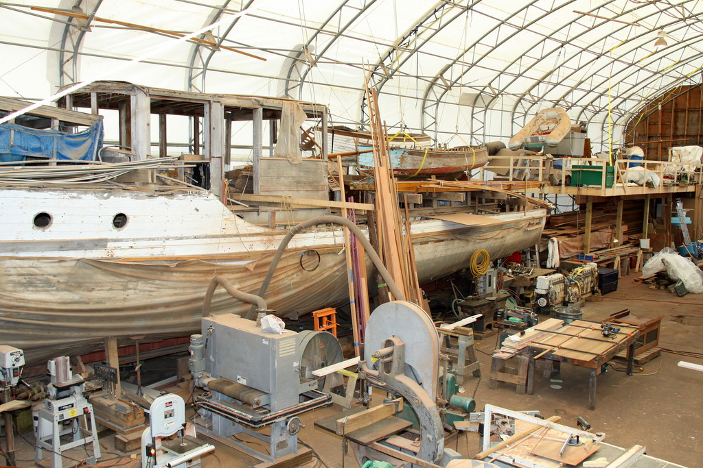 """We work on large wooden boats with massive problems... not a lot of people in the country can deal with the size and provide the care like we do,"" says McMillen Project Manager Todd Jarem"
