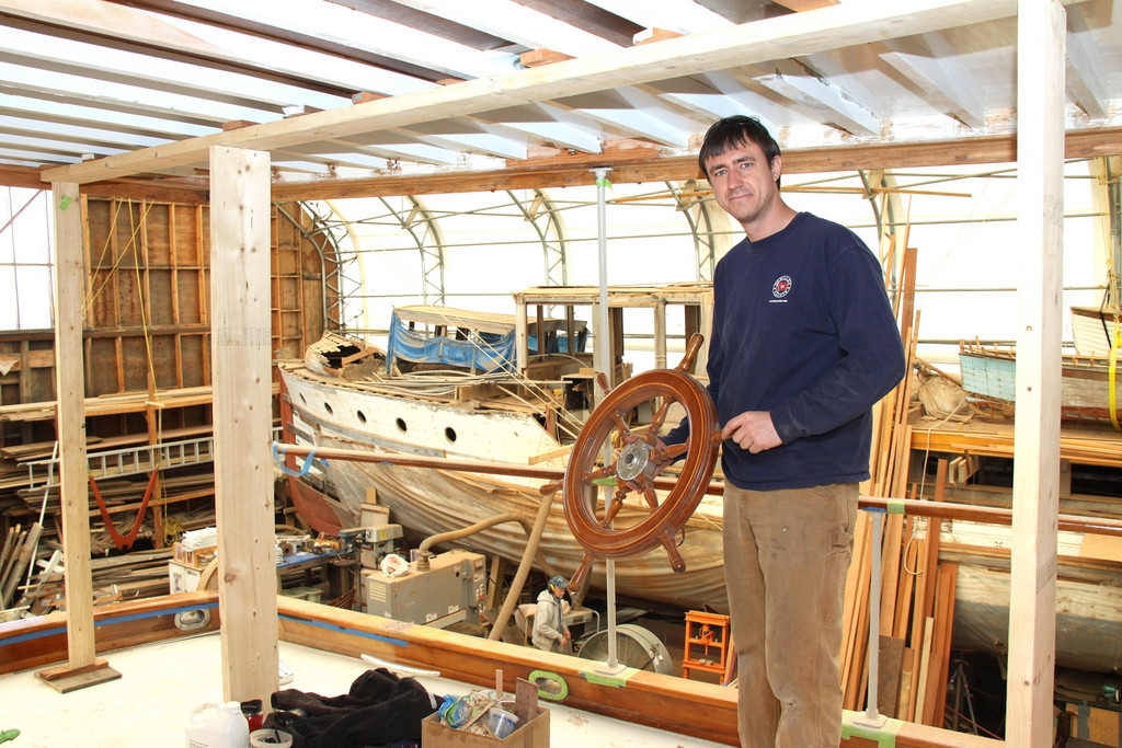 Though McMillen has access to modern tools and materials, the fundamentals of wooden boat building and restoration remain very much the same over generations