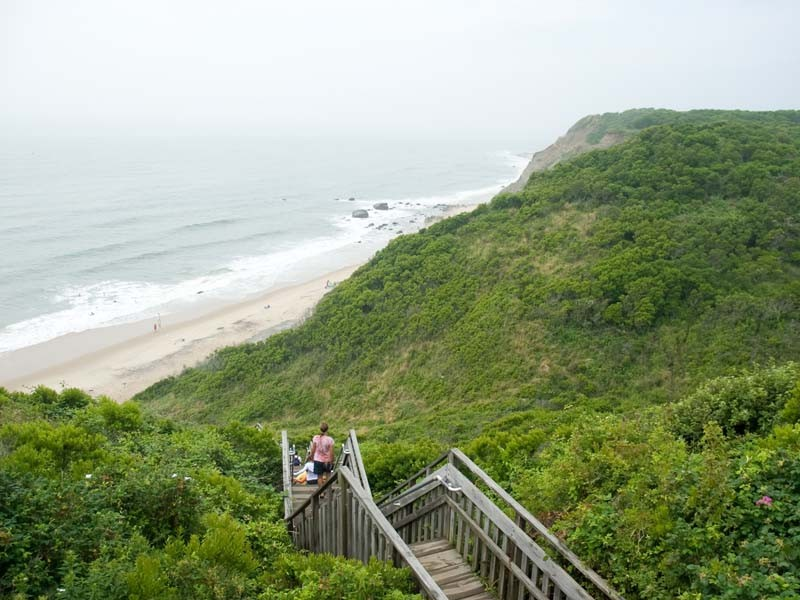The 200-foot Mohegan Bluffs provide some of Block Island's most iconic vistas