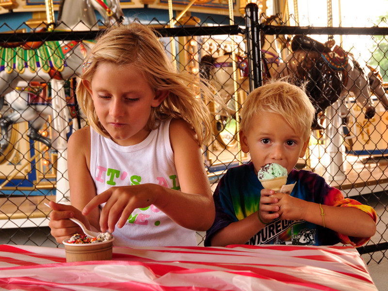 Cool off with Burdick's Ice Cream after a day of family fun at Adventureland in Narragansett