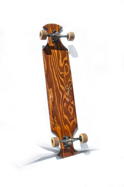 A longboard combines the feel of surfing with skateboarding