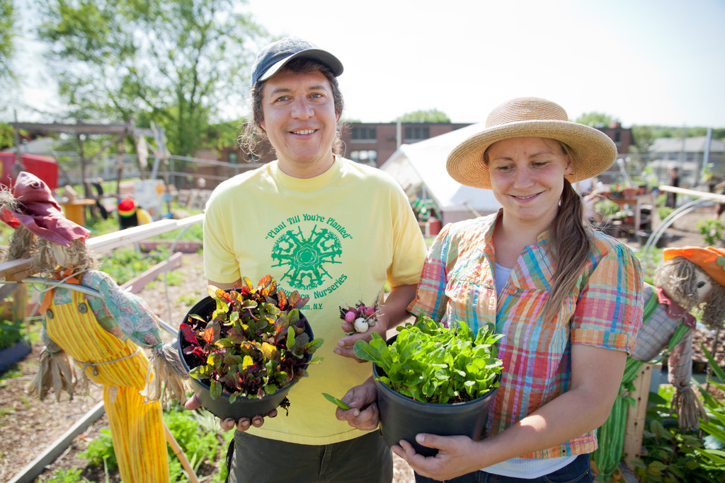 Bleu Grijalva and Emily Jodka are the Executive Director and Assistant Director, respectively, of New Urban Farmers, a nonprofit organization